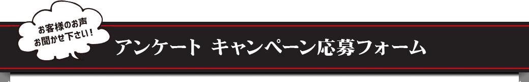 アンケート キャンペーン応募フォーム